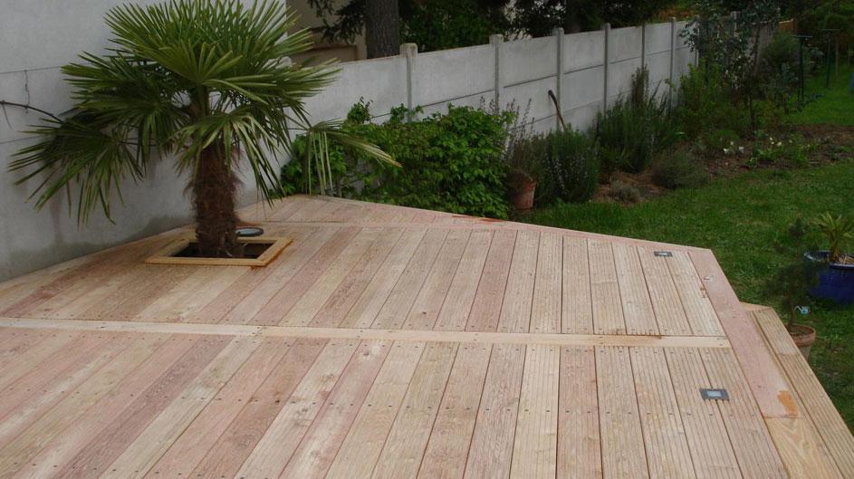 Terrasse en bois par Touraine Nature