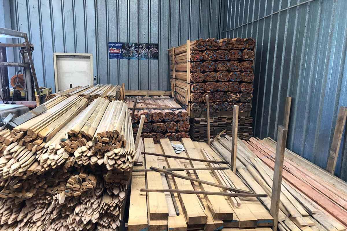 Atelier de bois de châtaigne - Touraine Nature